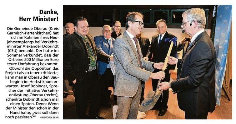 Münchner Merkur: Danke Herr Minister!