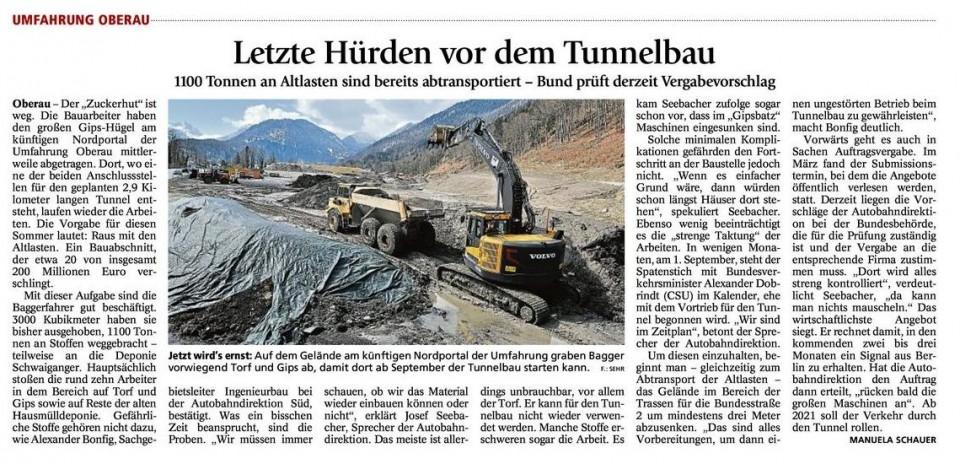 Letzte Hürden vor dem Tunnelbau