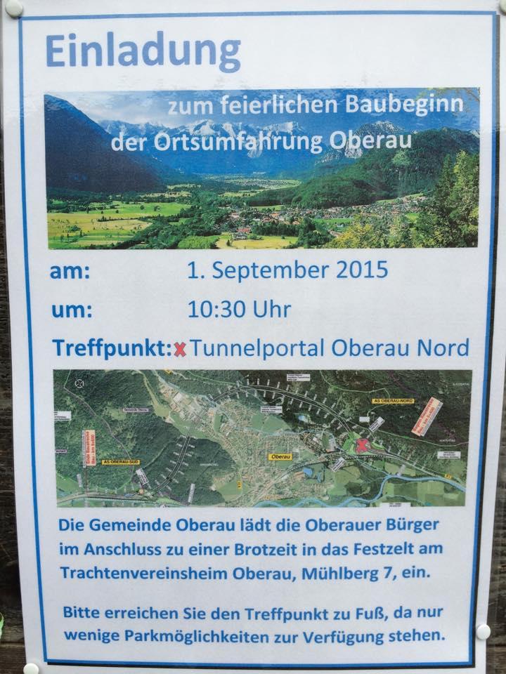 Einladung Baubeginn Westumfahrung Oberau