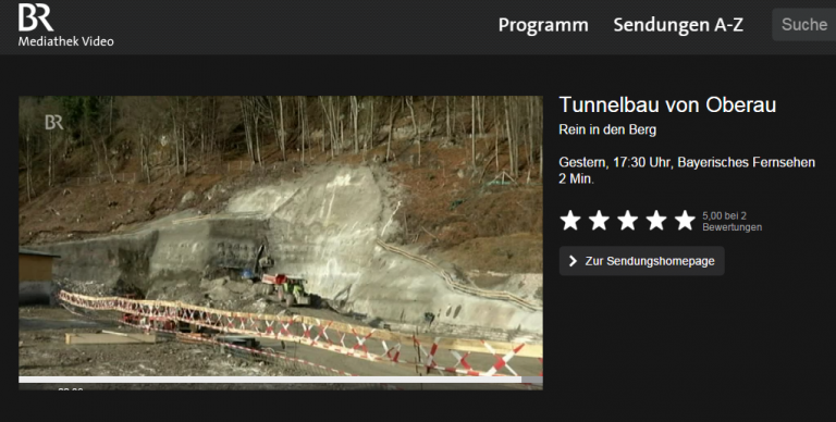 Bayerisches Fernsehen: Tunnelbau von Oberau
