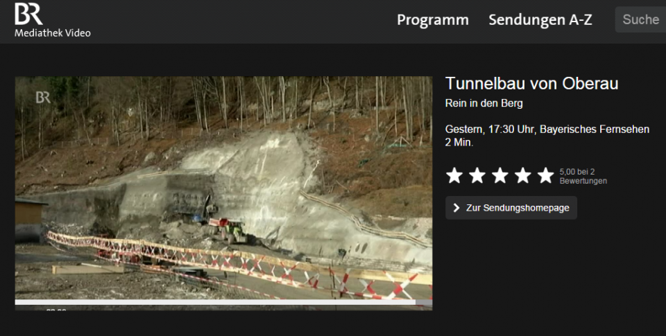 Video: Tunnelbau in Oberau